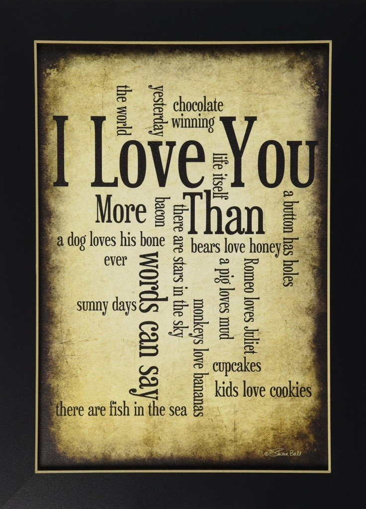 101 Gifts I Love You Framed Pic