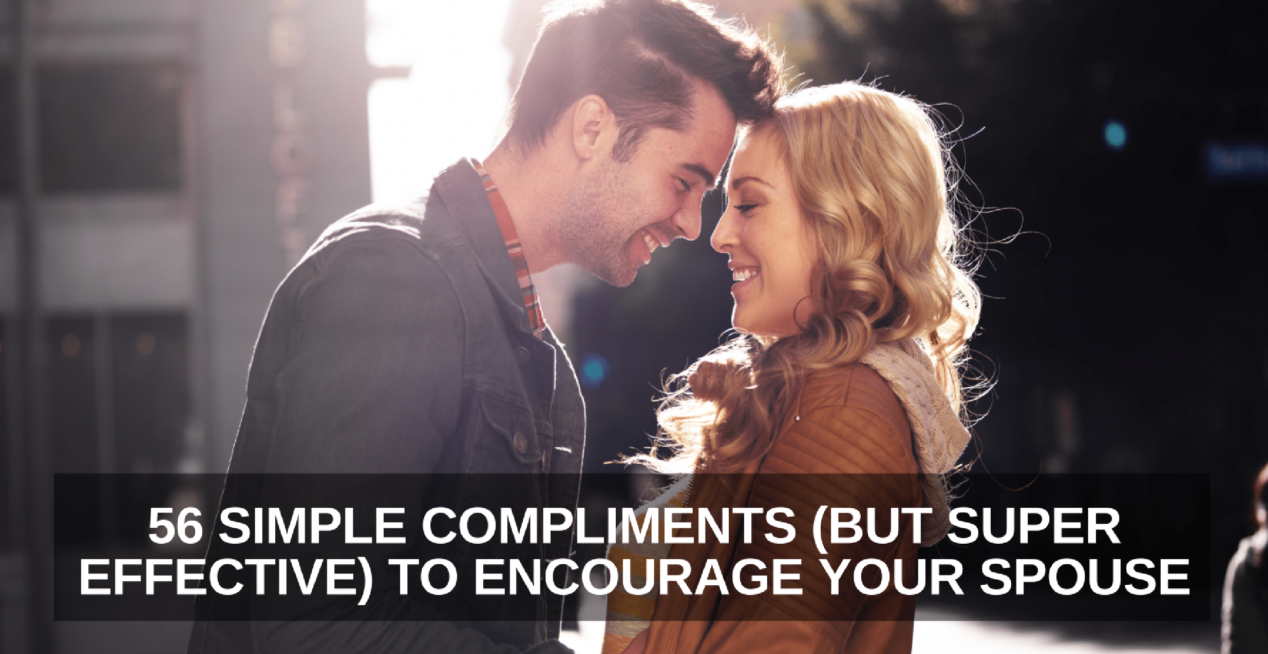 Husband and wife complement each other