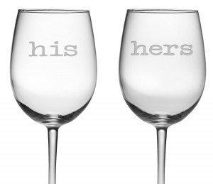 His Her Wine Glasses