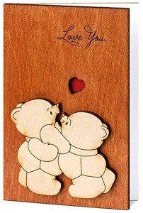 I Love You Wooden Card